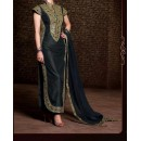 Party Wear Black Georgette Salwar Suit - EF112
