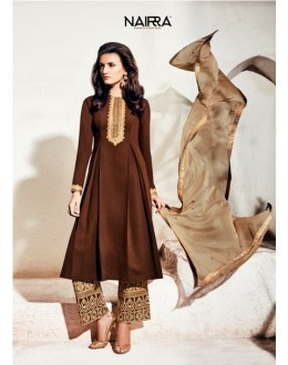 Party Wear Georgette Brown Palazzo Suit - 1003-B