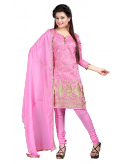 Party Wear Pink Chanderi Salwar Suit - EF117