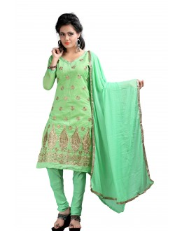 Party Wear Pista Chanderi Salwar Suit - EF116