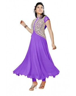 Party Wear Purple Georgette Salwar Suit - EF124