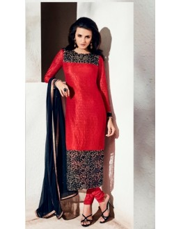 Party Wear Rachel Net Red Salwar Kameez - 1005-B