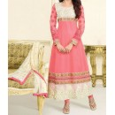 Party Wear Red Georgette Salwar Suit - EF101