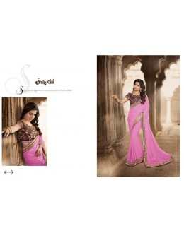 Designer Pink Zari Jacquard Party Wear Saree - 1514 ( SS-Shilpkala-1501 )
