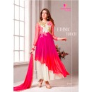 Party Wear Georgette Pink Anarkali Suit - D-101