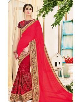 Ethinc Wear Multicolour Georgette Saree  - 2514