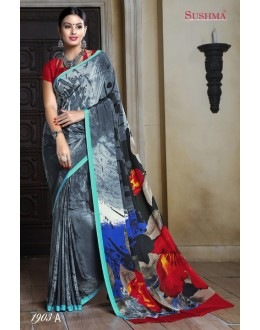 Casual Wear Multi-Colour Crepe Silk Saree  - SUSHMA-1903-A