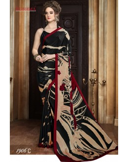 Casual Wear Multi-Colour Crepe Silk Saree  - SUSHMA-1906-C