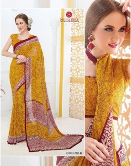Casual Wear Yellow Georgette Saree - 703-B