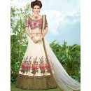 Festival Wear Off White Twotone Silk Lehenga Choli - 9403
