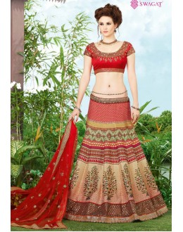 Festival Wear Multicolour Digital Pronted Lehenga Choli - 9409