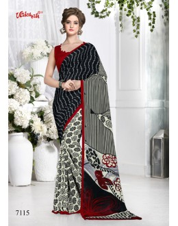 Casual Wear Multi-Colour Crepe Silk Saree  - 7115