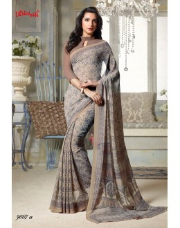 Georgette Multi-Colour Printed Saree  - 9007-A