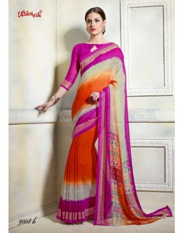 Ethnic Wear Multi-Colour Georgette Saree  - 9008-B