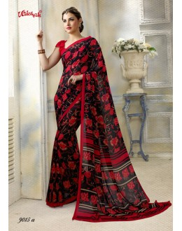 Georgette Ethnic Wear Printed Saree  - 9015-A