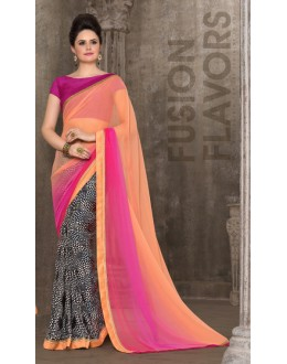 Casual Wear Multi-Colour Saree - 2956