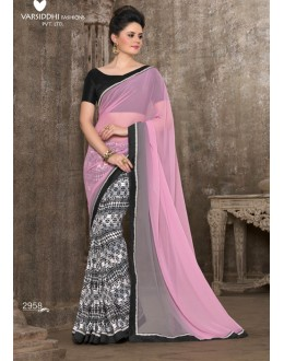 Party Wear Multi-Colour Saree - 2958