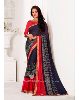 Ethnic Wear Blue Georgette Saree  - VARSIDDHI-3453