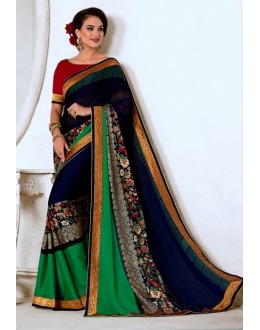 Ethnic Wear Multi-Colour Georgette Saree  - VARSIDDHI-3455