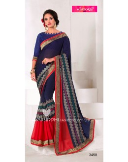 Festival Wear Blue Georgette Saree  - VARSIDDHI-3458