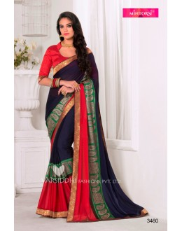 Traditional Blue Georgette Saree  - VARSIDDHI-3460