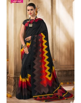 Casual Wear Black Silk Saree  - VARSIDDHI-3512
