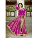 Party Wear Pink Georgette Slit Anarkali Suit - VELLORA-304
