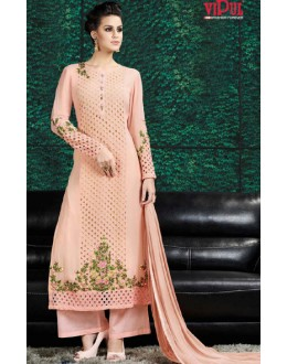 Festival Wear Light Peach Georgette Salwar Suit  - 8908