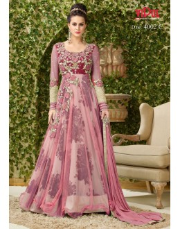 Festival Wear Light Pink Net Gown - VIPUL-4002C