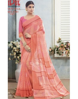Ethnic Wear Pink Linen Silk Saree  - 19020
