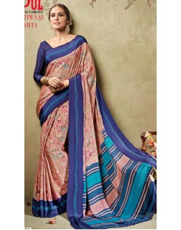 Casual Wear Multicolour Crepe Silk Saree  - 19708