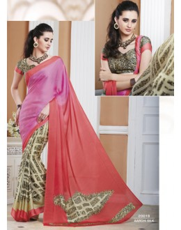 Casual Wear Multicolour Crepe Silk Saree  - 20019