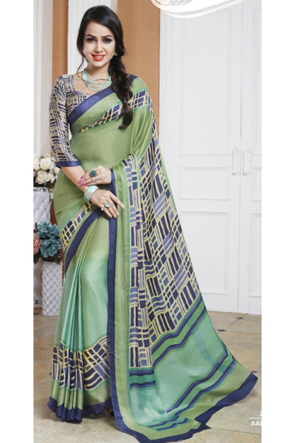 Ethnic Wear Multicolour Crepe Silk Saree  - 20029