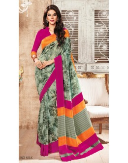Casual Wear Multicolour Silgudi Picaso Silk Saree  - 20224
