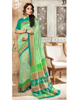 Casual Wear Green Silgudi Picaso Silk Saree  - 20230