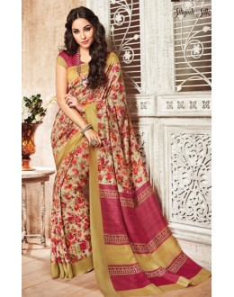 Casual Wear Multicolour Silgudi Picaso Silk Saree  - 20232