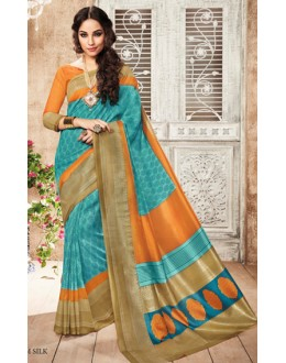 Casual Wear Multicolour Silgudi Palayam Silk Saree  - 20238