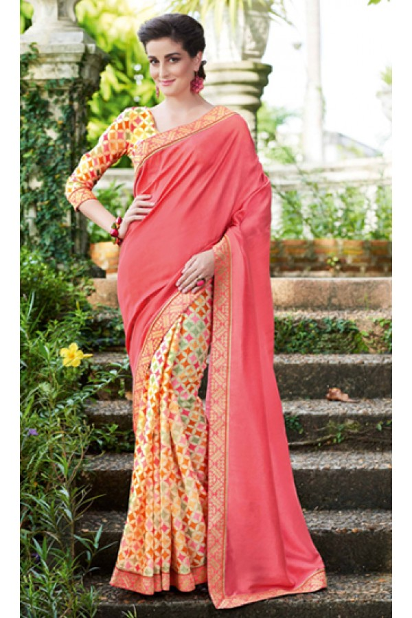 Ethnic Wear Multicolour Ruby Silk Saree  - 20607