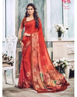 Casual Wear Red Soft Georgette Saree  - 21008