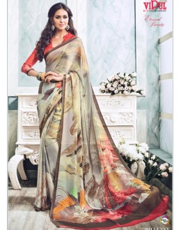 Casual Wear Multi-Colour Soft Georgette Saree  - 21011