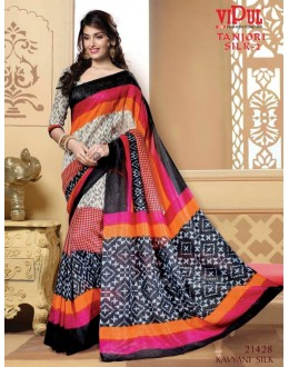 Casual Wear Multi-Colour Saree  - VIPUL-21428