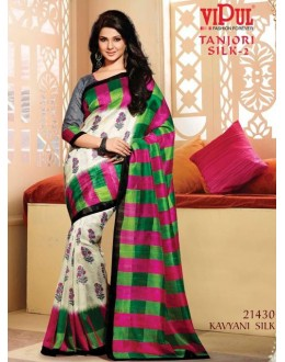 Casual Wear Multi-Colour & Grey Saree  - VIPUL-21430