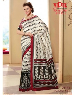 Party Wear Off White Saree  - VIPUL-21434
