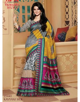 Ethnic Wear Multi-Colour & Grey Saree  - VIPUL-21441