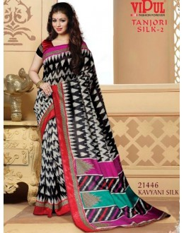 Ayesha Takia In Multi-Colour Saree  - VIPUL-21446