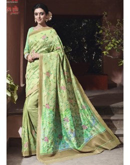 Ethnic Wear Thappa Silk Saree - VIPUL-30245