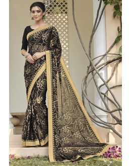 Festival Wear Black Saree  - VIPUL-30414