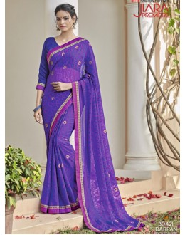 Casual Wear Purple Saree  - VIPUL-30421