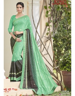 Party Wear Sea Green Saree  - VIPUL-30424