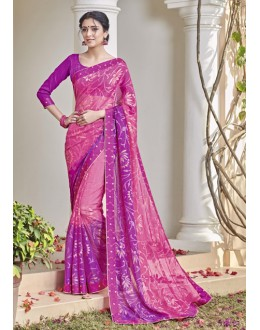 Ethnic Wear Pink Saree  - VIPUL-30425